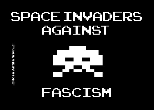 Space Invaders against Fascism