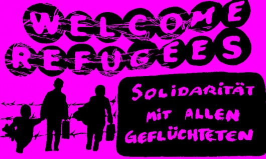 refugees welcome pink